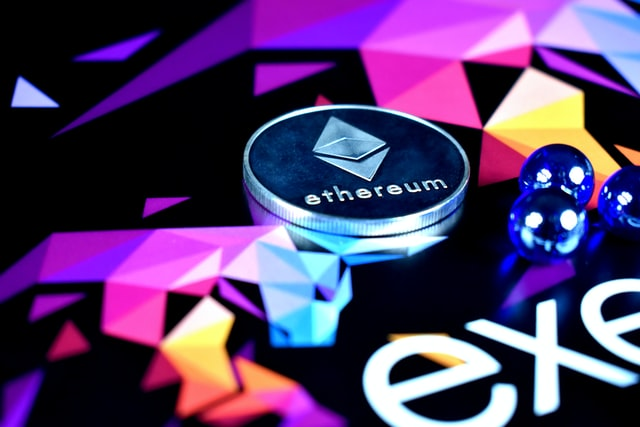 Silver ethereum coin